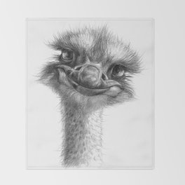 Hello-you ostrich sk130 Throw Blanket