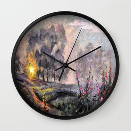 On the Sunset Wall Clock