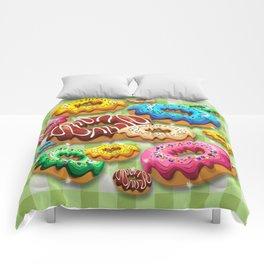 Donuts Party Time Comforters