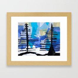 Fir Trees Framed Art Print