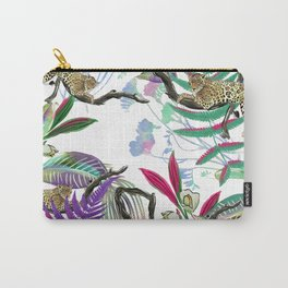 texture of print fabric striped leopard Carry-All Pouch