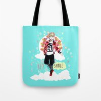 shinee Tote Bags featuring SHINEE KEY by Haneul Home
