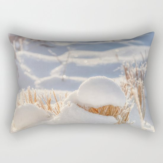 And finally Winter, with its bitin', whinin' wind, and all the land will be mantled with snow. Rectangular Pillow