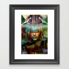 The guardian of the dusk Framed Art Print