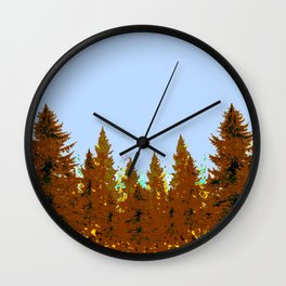 DECORATIVE BROWN-OCHER COLORED FOREST Wall Clock