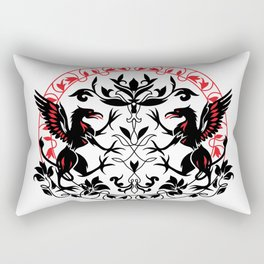 Mythical creature Griffin silhouette graphic art Rectangular Pillow