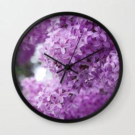 lilacs up close Wall Clock