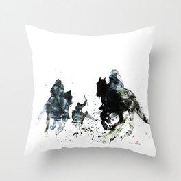 Horse (Movie scene) Throw Pillow