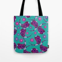 paisley Tote Bags featuring Paisley by luizavictoryaPatterns