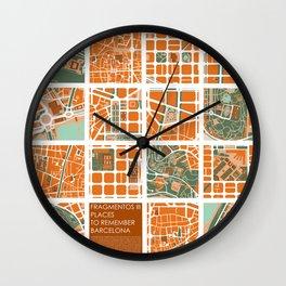 Fagmentos III Barcelona Wall Clock
