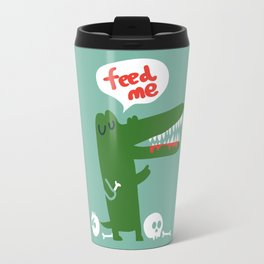 Hungry Hungry Alligator Travel Mug
