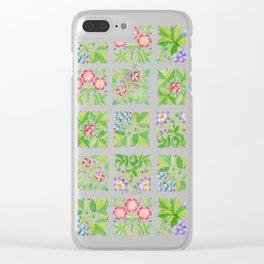 Tudor Flower Parterre Clear iPhone Case
