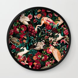 Long Leggend Birds II Wall Clock