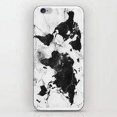 world map marble 3 iPhone & iPod Skin