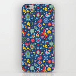 Swedish Folk Art Garden iPhone Skin