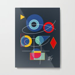 Joyful Abstract Composition Art Metal Print