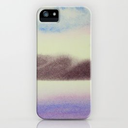Mountain and Sea 4 / Watercolor Painting iPhone Case