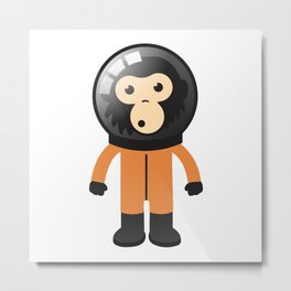 Astronout Ape Metal Print