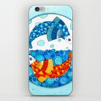 pisces iPhone & iPod Skins featuring Pisces by Sandra Nascimento