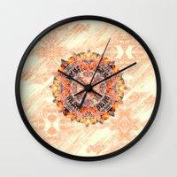 chakra Wall Clocks featuring Chakra Mandala by Peta Herbert