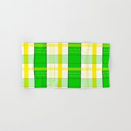 Yellow and Green Plaid Hand & Bath Towel