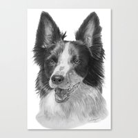 border collie Canvas Prints featuring Border collie by Doggyshop