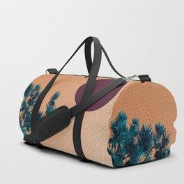 Pine tree and blue polka dots Duffle Bag