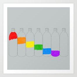 Rainbow Bottles Art Print