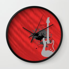 Ramble On Wall Clock