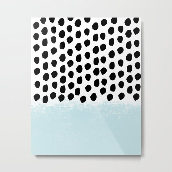 Lolita - Modern mint dots abstract painting minimal design trendy hipster decor dorm office retail  Metal Print
