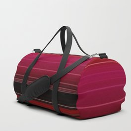 Vibrant Red Ombre Stripe Pattern Duffle Bag
