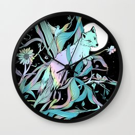 Wild Emergence (Warm Freeze) Wall Clock