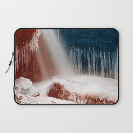Winter Harmony Stream - Red White & Blue Laptop Sleeve