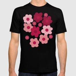 cherry blossom pop white T-shirt