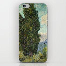 Cypresses by Vincent van Gogh iPhone Skin