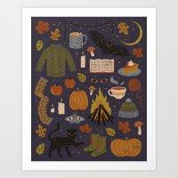 Autumn Nights Art Print