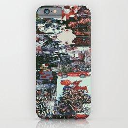 dark christmas collage iPhone Case