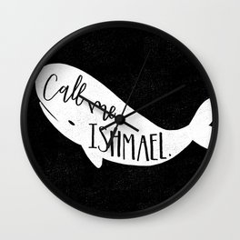 Moby Dick quote Wall Clock