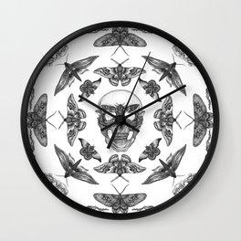 Moth Skull Pattern Wall Clock