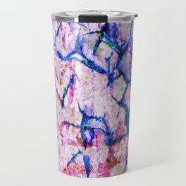 Cracked Floral Travel Mug