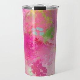 Pink neon green abstract look Travel Mug