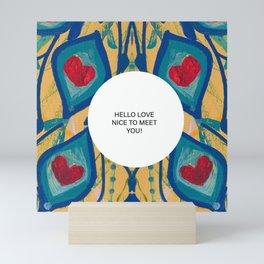 Hello Love Mini Art Print