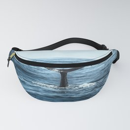 Ocean Teal Whale Fanny Pack
