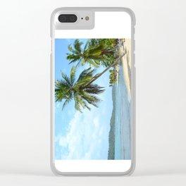 The Caribbean beach 01 Clear iPhone Case