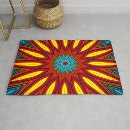 Bright Multi Color Mandala Rug