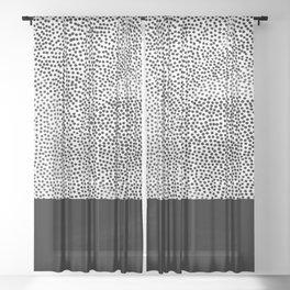 Dots and Black Sheer Curtain