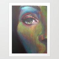 See Through My Layers Art Print
