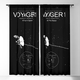 Voyager 1-Humanity's Farthest Spacecraft-40 Years in Space Blackout Curtain