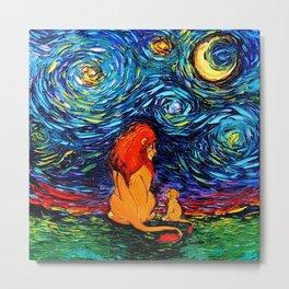 Lion King Starry Night Metal Print