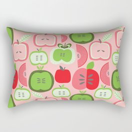 Retro Apples Rectangular Pillow